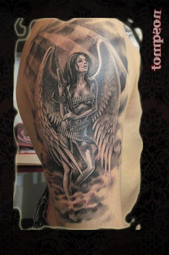 татуировки ангел картинки