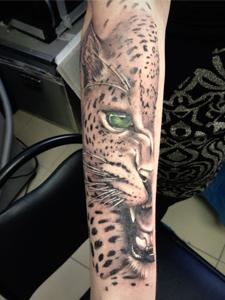 Тату леопард: 6 значений, 50 фото и лучшие эскизы - Vse-o-tattoo 34